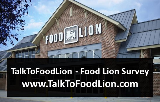 TalkToFoodLion - Food Lion Survey - www.TalkToFoodLion