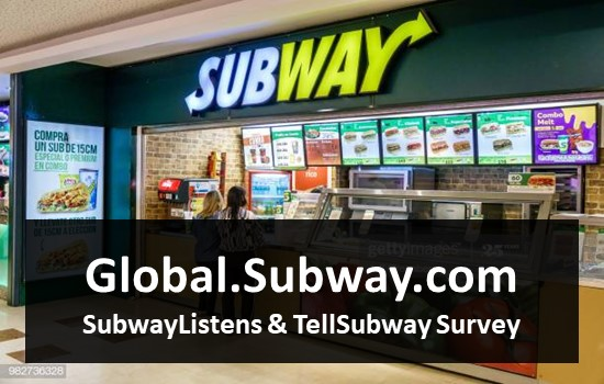 Global.Subway.com - SubwayListens & TellSubway Survey
