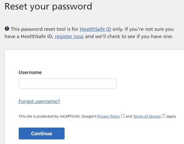 My AARPMedicare Reset Password
